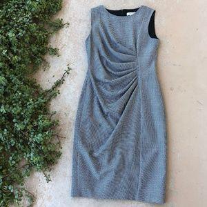 MaxMara Gray Sleeveless Sheath Midi Dress